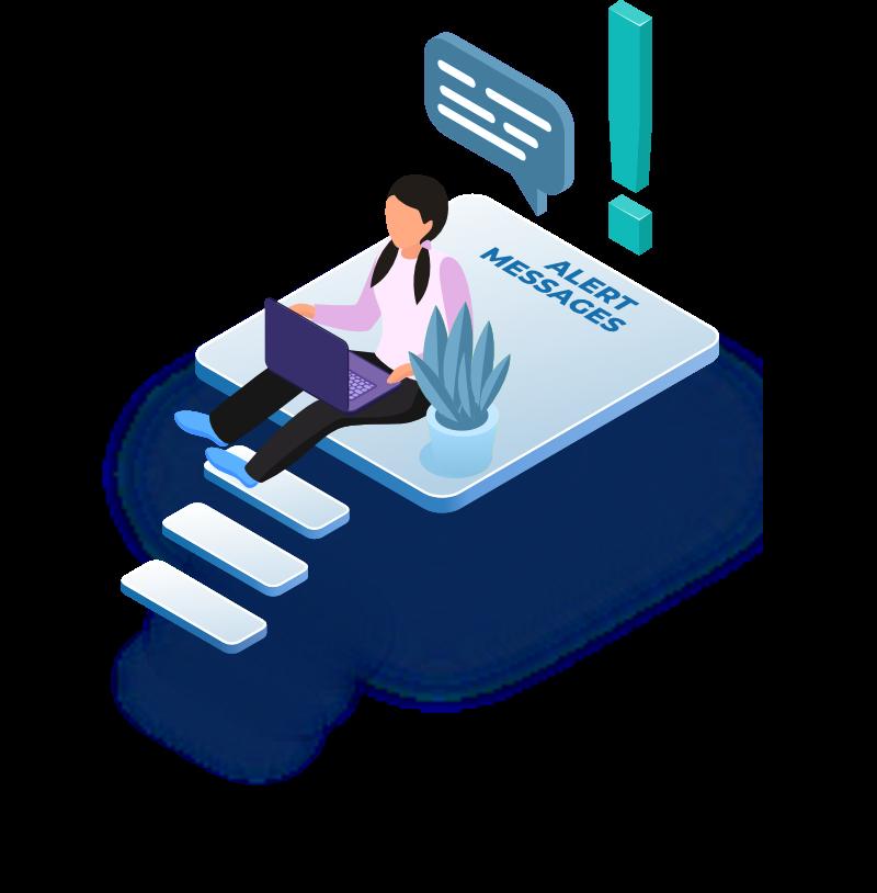 communication via chat illustration