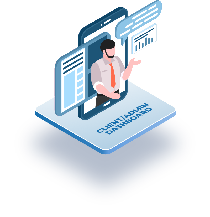 Illustration of Client Dashboard