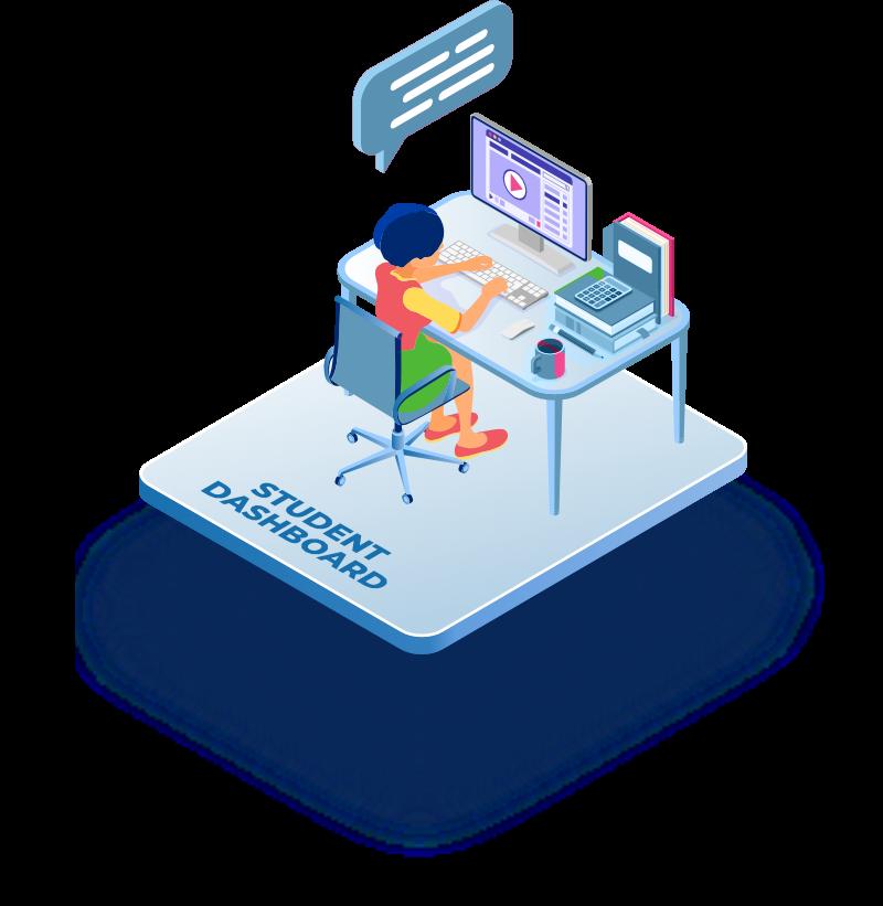 Student dashboard illustration