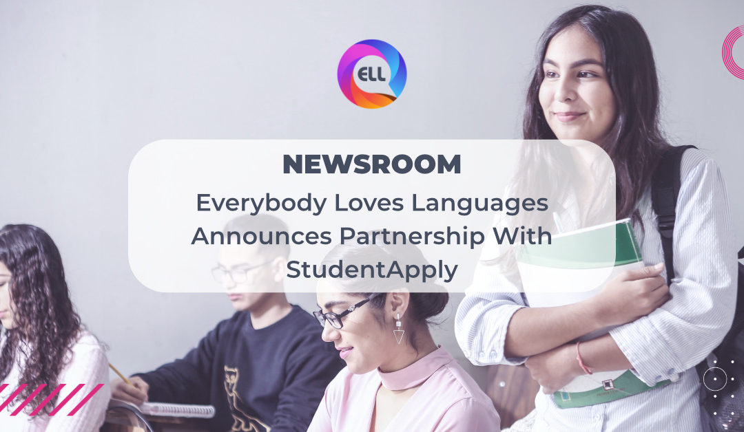 EVERYBODY LOVES LANGUAGES ANNOUNCES PARTNERSHIP WITH STUDENTAPPLY, AMPLIFYING BENEFITS TO INSTITUTIONS, TEACHERS AND STUDENTS